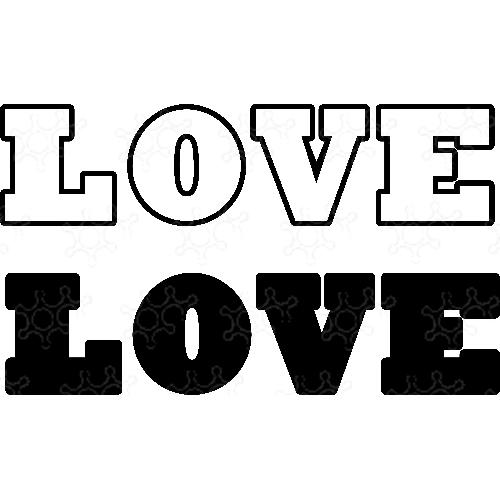Confettiera o Portapalloncini Love Gigante