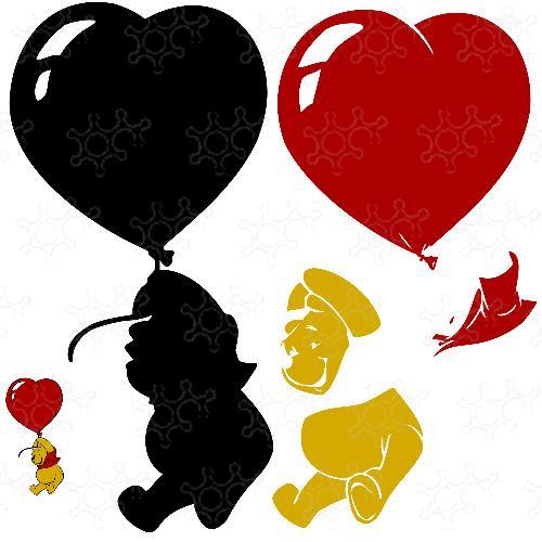 Pooh Heart Balloon