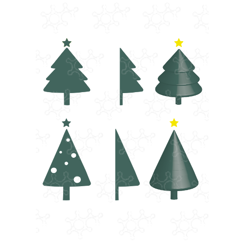 Alberi di Natale 2D e 3D