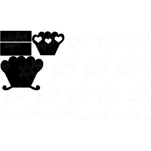 culla porta confetti o bomboniera in base alle misure che la realizzate