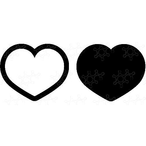 Porta confetti cuore