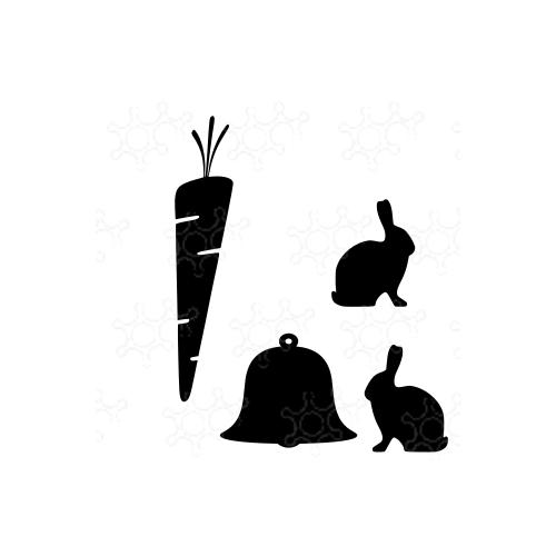 campana con conigli e carota