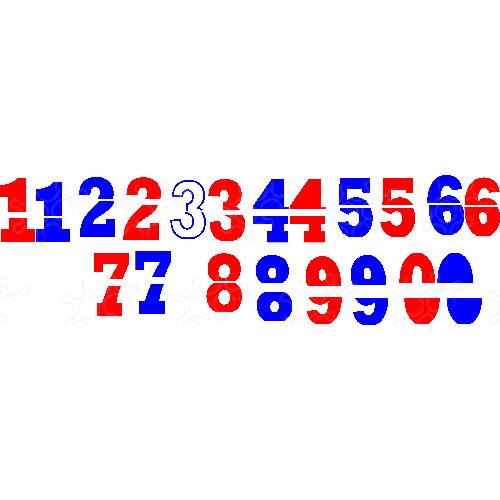numeri portapalloncini divisi per oranje