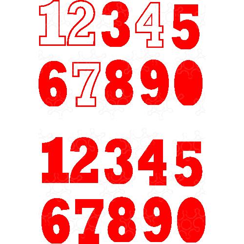 numeri porta palloncini per azul