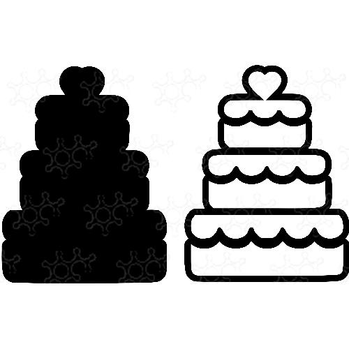 Porta confetti torta