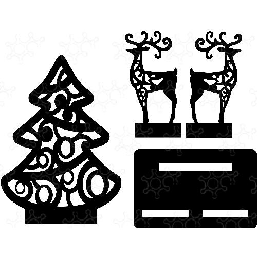 Albero di Natale con renne