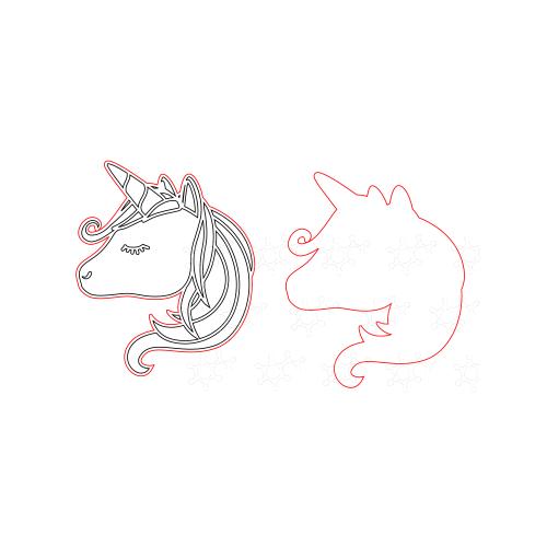 Unicorno porta confetti