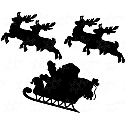 Babbo Natale con renne