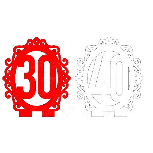 30 e 40 incorniciati