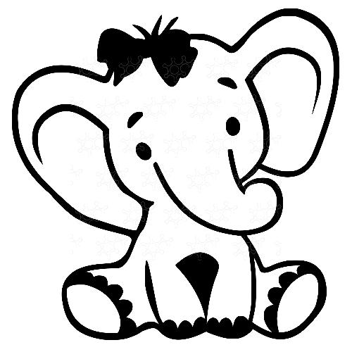 Elefante con fiocco