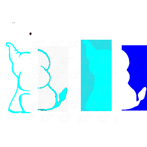 elefantinoportapalloncini azul